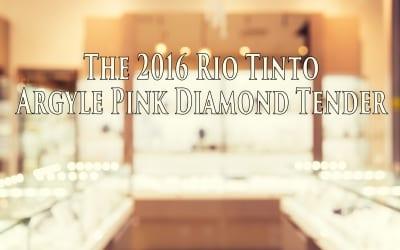 The 2016 Argyle Pink Diamond Tender