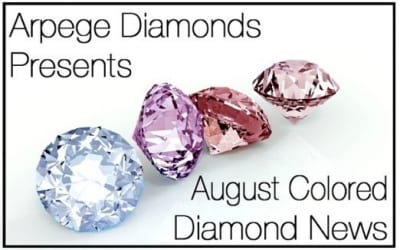 Colored Diamonds News From August 2018