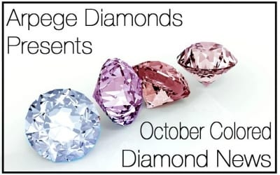 Colored Diamonds News From October 2018