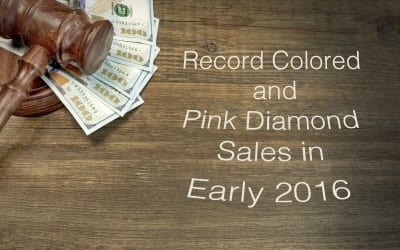 Record Colored & Pink Diamond Sales in Early 2016