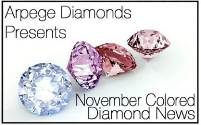 Colored Diamonds News From November 2018
