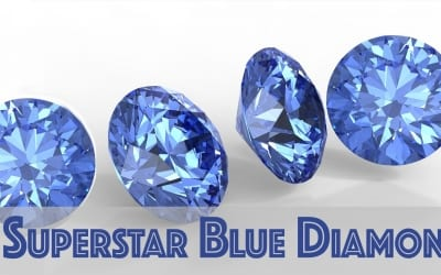 4 Superstar Blue Diamonds